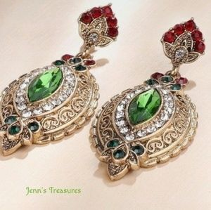 Turkish BOHO PerodotCrystal Earrings